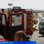 Drie doden bij zwaar ongeval op AP-7 bij El Campello (Alicante)