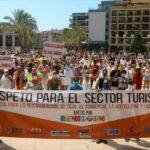 Horecaprotest tegen Covid-19 maatregelen in Benidorm